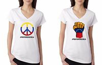 Pray For Venezuela T-shirt Peace For Venezuela Support Patriotic Women