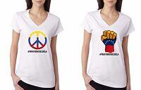 Pray For Venezuela T-shirt Peace For Venezuela Support Patriotic Women
