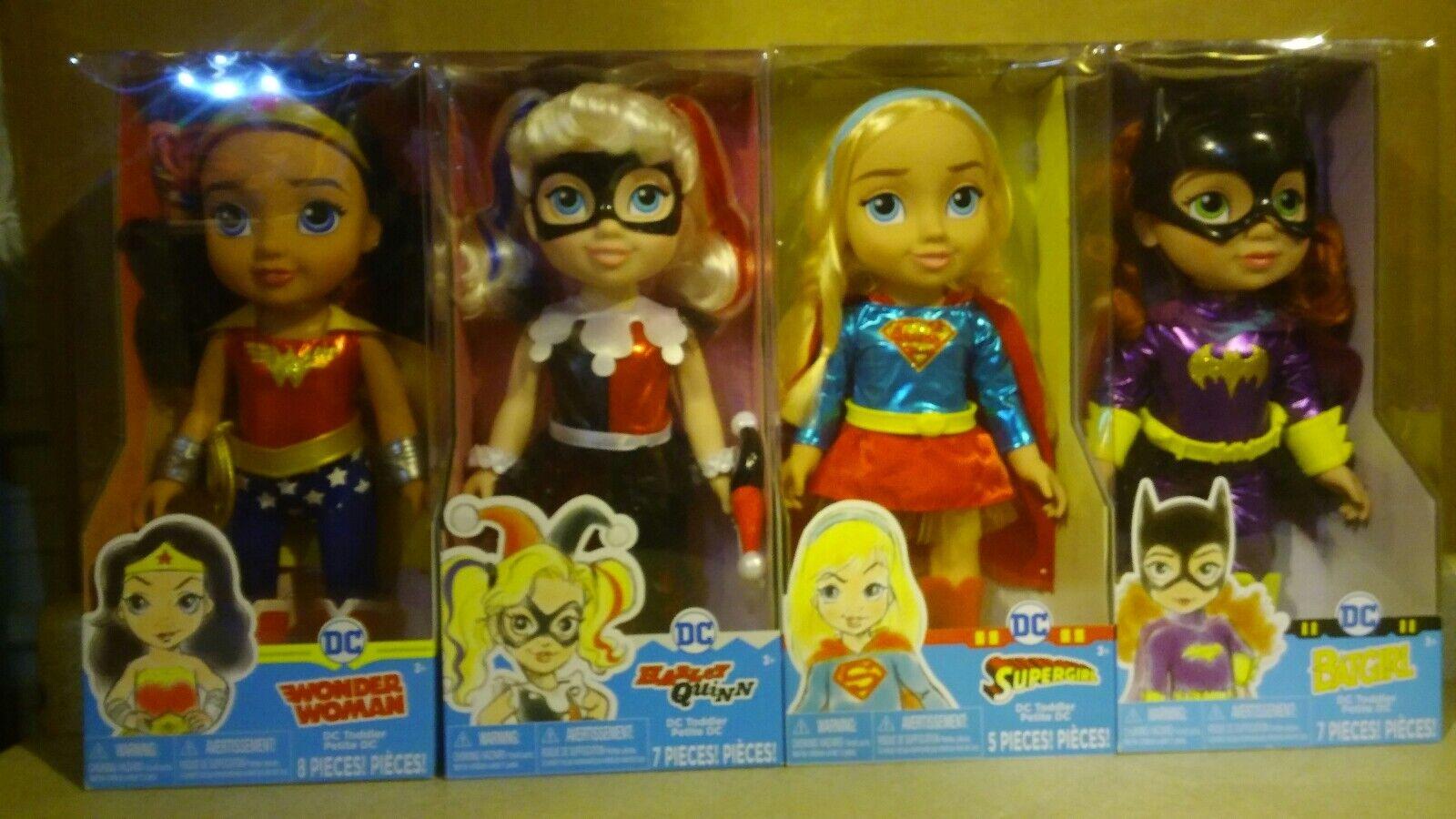 "4 4 4 Lot DC Super Hero Girls Supergirl Harley Quinn Wonder Woman Batgirl 15"" Dolls 7d8842"