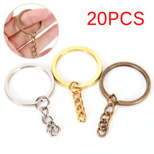 20X-DIY-Key-Rings-Key-Chain-Split-Ring-Short-Chain-Key-Holder-Key-Rings-30mm-ti