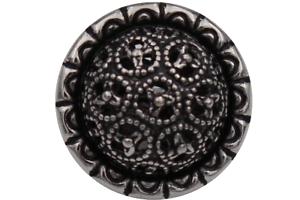 zauberhafte silber geschwärzt Metallknöpfe gewölbt Dirndl Trachten 14mm 6 Stück