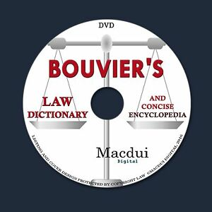 Bouvier's law dictionary and concise encyclopedia – 3 PDF e-Books on 1 DATA  DVD | eBay