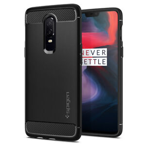 For-OnePlus-6-Spigen-Rugged-Armor-Black-Shockproof-Protective-Case-Cover