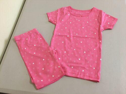 New Carter/'s Girls Heart Pajama 2pc Set Snug fit Shortie Pink Toddler kids sizes