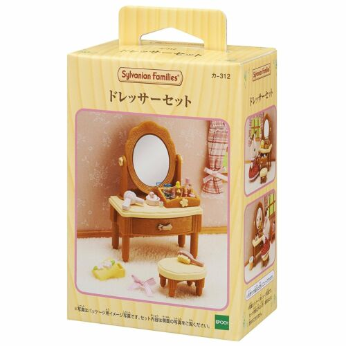 Two Furniture Sylvanian Families Sets Room Ceiling Light and Dresser Sets