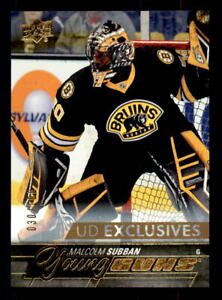 2015-16-Upper-Deck-Exclusives-211-Malcolm-Subban-Young-Guns-Rookie-30-100-1-1
