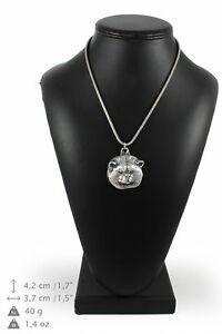 Akita-Inu-silver-plated-pendant-on-the-silver-chain-Art-Dog-IE