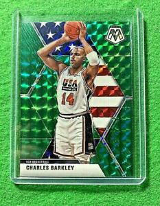 CHARLES BARKLEY MOSAIC PRIZM GREEN CARD USA BASKETBALL 2019-20 MOSAIC BASKETBALL