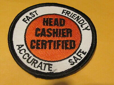 LMH PATCH Badge  CASHIER ACCURACY SCANNING /% Home Depot  Barcode Scanner  A.C.T.