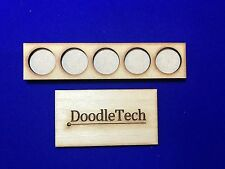 Laser cut MDF (5x1) MOVEMENT TRAYS for 25mm round Bases LOTR / 40k Skirmish