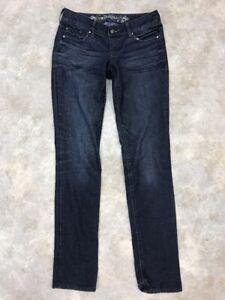 Express-Women-039-s-Blue-Dark-Wash-Stella-Regular-Fit-Skinny-Jeans-Sz-0R