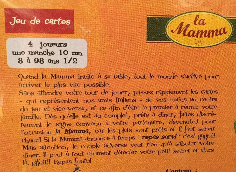 NEUF SOUS BLISTER   BLISTER  PETIT JEU DE SOCIETE LA MAMMA PAR JEUX FK @ PROMO 814c3a