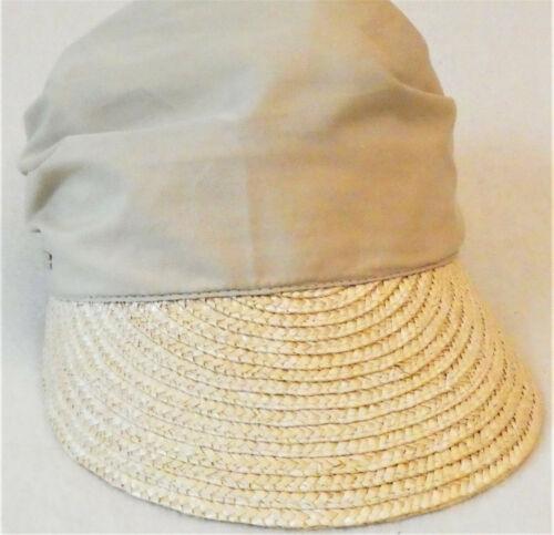 Seeberger Strohkappe//Schirmmütze mit gebundenem Tuch UV-Schutz 50+