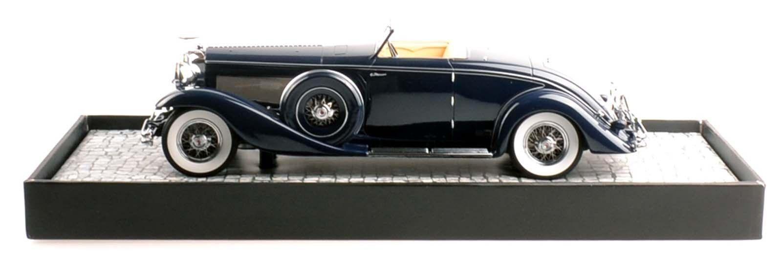 MINICHAMPS 107150332 DUESENBERG SJN convertible coupé 1936 bleu 1 18 Nouveau Neuf dans sa boîte