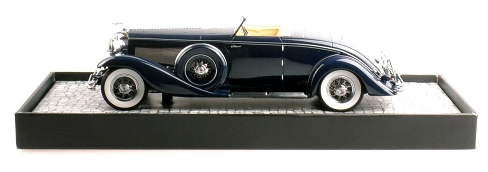 Minichamps 107150332 Duesenberg SJN converdeible coupe 1936 blu 1 18 nuevo en el embalaje original