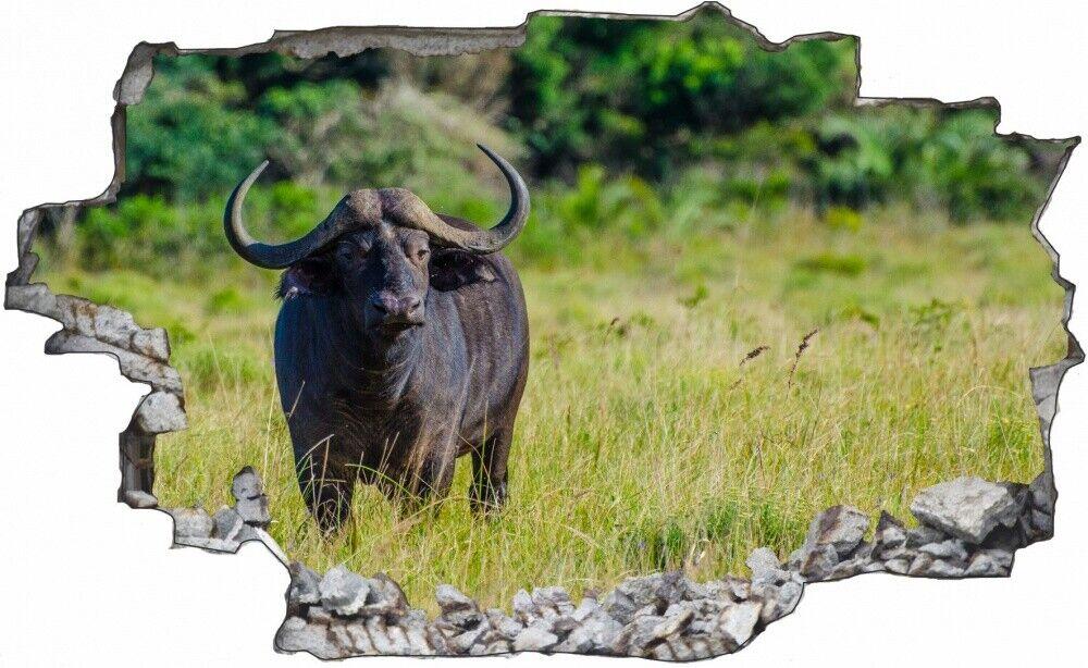 Africa GNU bovina animale Muro Tatuaggio Parete Adesivo Parete Adesivo c1533