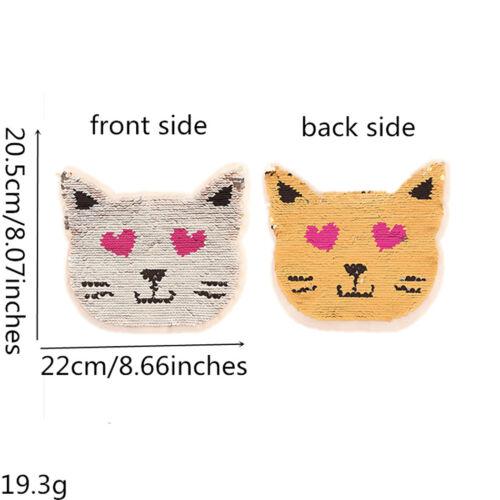 2PC Sequins Patches Reversible Change Color Sew On AppliquE T-shirt Kids Clothes
