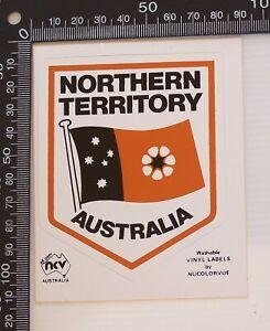VINTAGE-NORTHERN-TERRITORY-AUSTRALIA-NT-SOUVENIR-TOURIST-BUMPER-PROMO-STICKER
