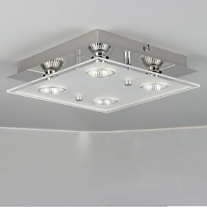 Details About Modern 4 Way Gu10 Led Ceiling Light Ing Spotlight Kitchen Lights Uk