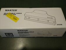 Martin Yale 3 Hole 30 Sheet Paper Punch Machine Adjustable Manual Office Desktop