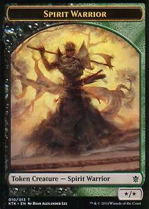 4x-TOKEN-Guerriero-Spirito-Espiritu-Warrior-MAGIC-KTK-Khans-de-Tarkir-Eng-Ita