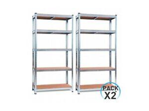 Pack-2-Estanterias-Modulares-Galvanizadas-con-5-baldas-ajustables