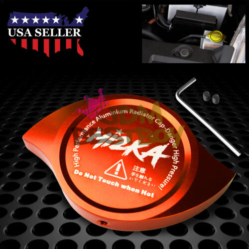 Orange Billet Aluminum Radiator Protector Pressure Cap Cover High Performance