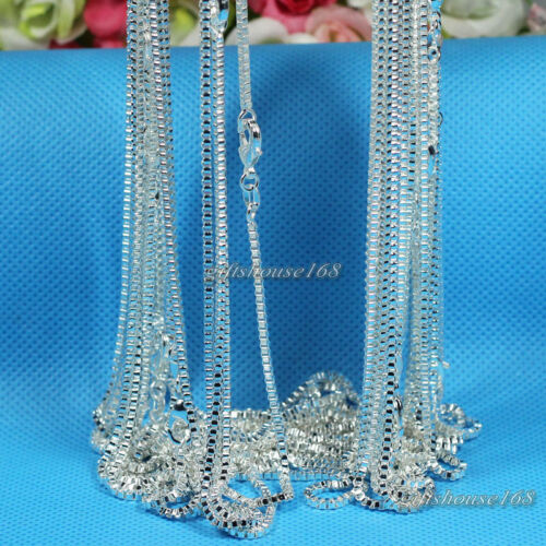 """Wholesale 10pcs 2mm Silver Plated Box Chain Necklace 16/""""-24/"""",Pick Your Length!"""