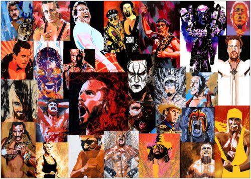 Wrestling Greats WWE Grande Toile Art Imprimé A0 A1 A2 A3 A4