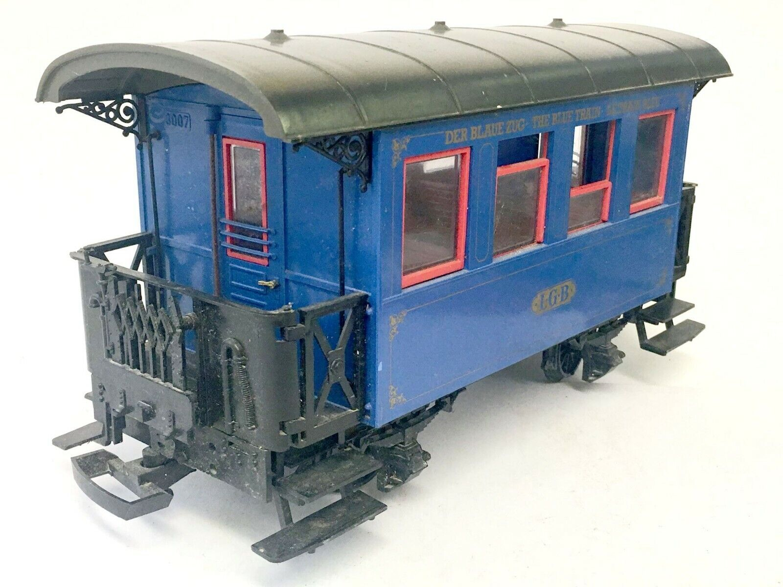 LGB 3007 The blu Train Passenger auto GScale