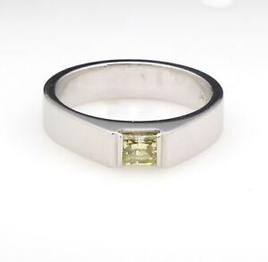 0-64-ct-Fancy-Intense-Yellow-Diamond-Set-in-9-9-gm-14-kt-white-gold-ring