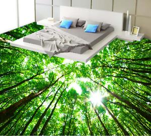 3D Green Light Tree 7 Floor WallPaper Murals Wall Print 5D AJ WALLPAPER UK Lemon