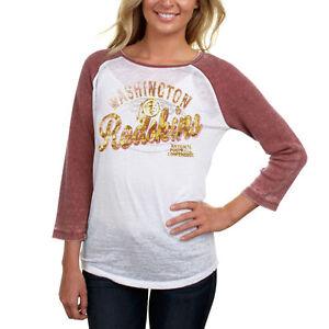 Washington Redskins NFL Women s Three-Quarter Sleeve Thermal T-Shirt ... 0956904c3