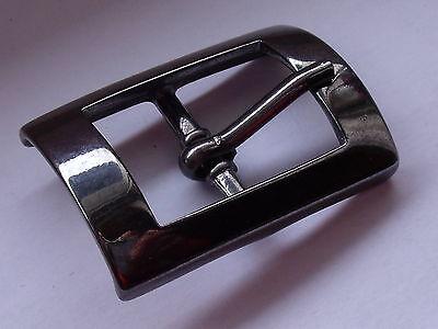 Gürtelschnalle Schließe Schnalle  2 cm anthrazit  NEUWARE  rostfrei #317#