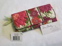 Vera Bradley Hello Dahlia Gallery Wallet Clutch For Purse Tote Backpack Bag