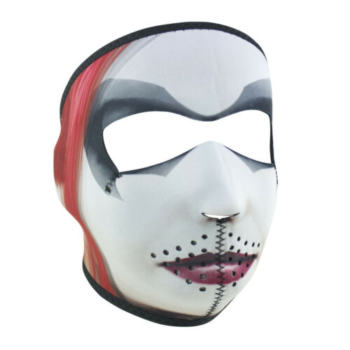 Harley Quinn Full Face Reversible Neoprene Motorcycle Winter Ski Mask