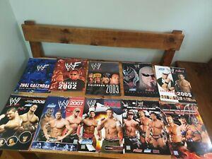 Collection officielle de calendrier de lutte des Wwe Men de 2001 à 2015, rare