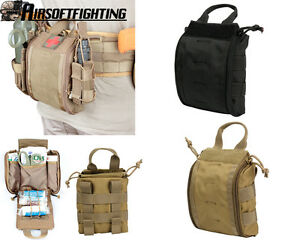 Details about Military First Aid Kit Pouch Tactical Molle Medical Emergency  Bag Waist Belt