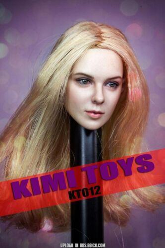 """1//6 cheveux blonds Female Head Sculpt Kimi KT012 pour 12/"""" Hot Toys PHICEN Figure USA"""