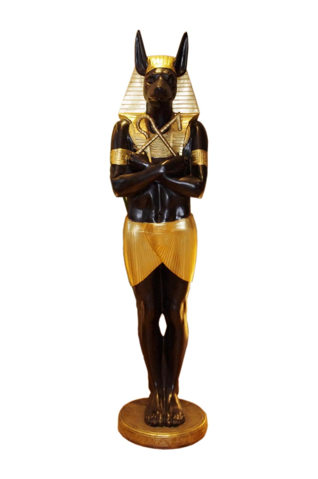 1 x Anubis Lebensgroße Pharao Sarkophag Rar Ägyptische Figuren Figur Ramses