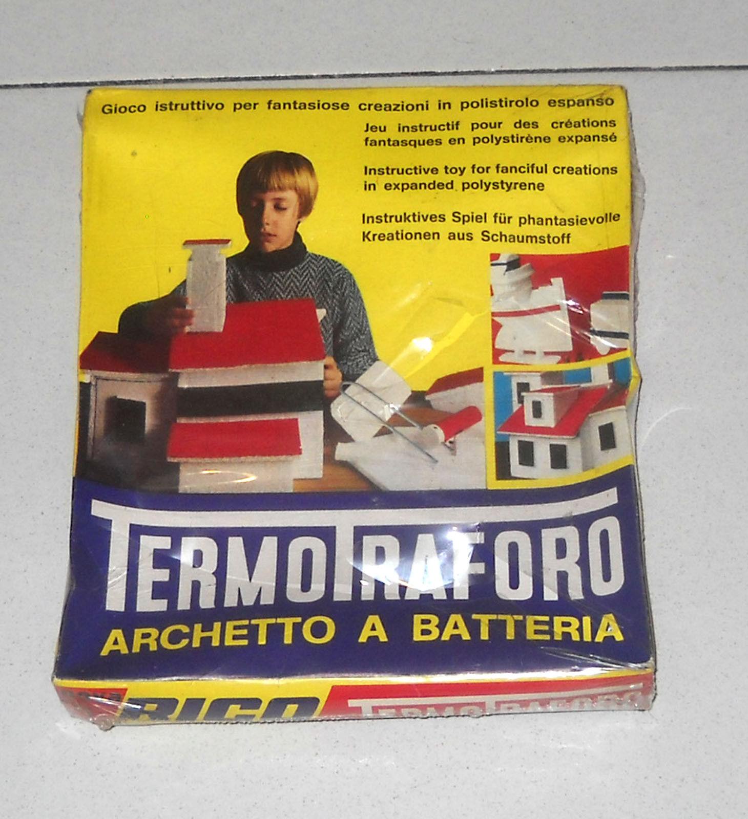 TERMOTRAFgold ARCHETTO a batteria - Rico anni 70 NUOVO Termo trafgold Polistirolo