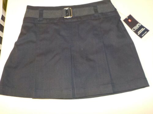 GIRLS SIZE 5 CHAPS APPROVED SCHOOLWEAR UNIFORM NAVY COTTON SKORT NEW NWT #2131