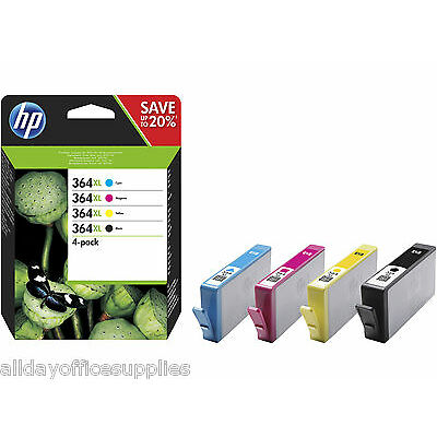 4 Genuine HP 364XL Inks A pack for PhotoSmart 5510 5520 6520 - £30 CASHBACK*