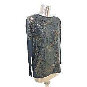 Pomodoro Top Blouse Tunic Oversize Sequins UK L 16 (EU44) NEW Women's RRP £60