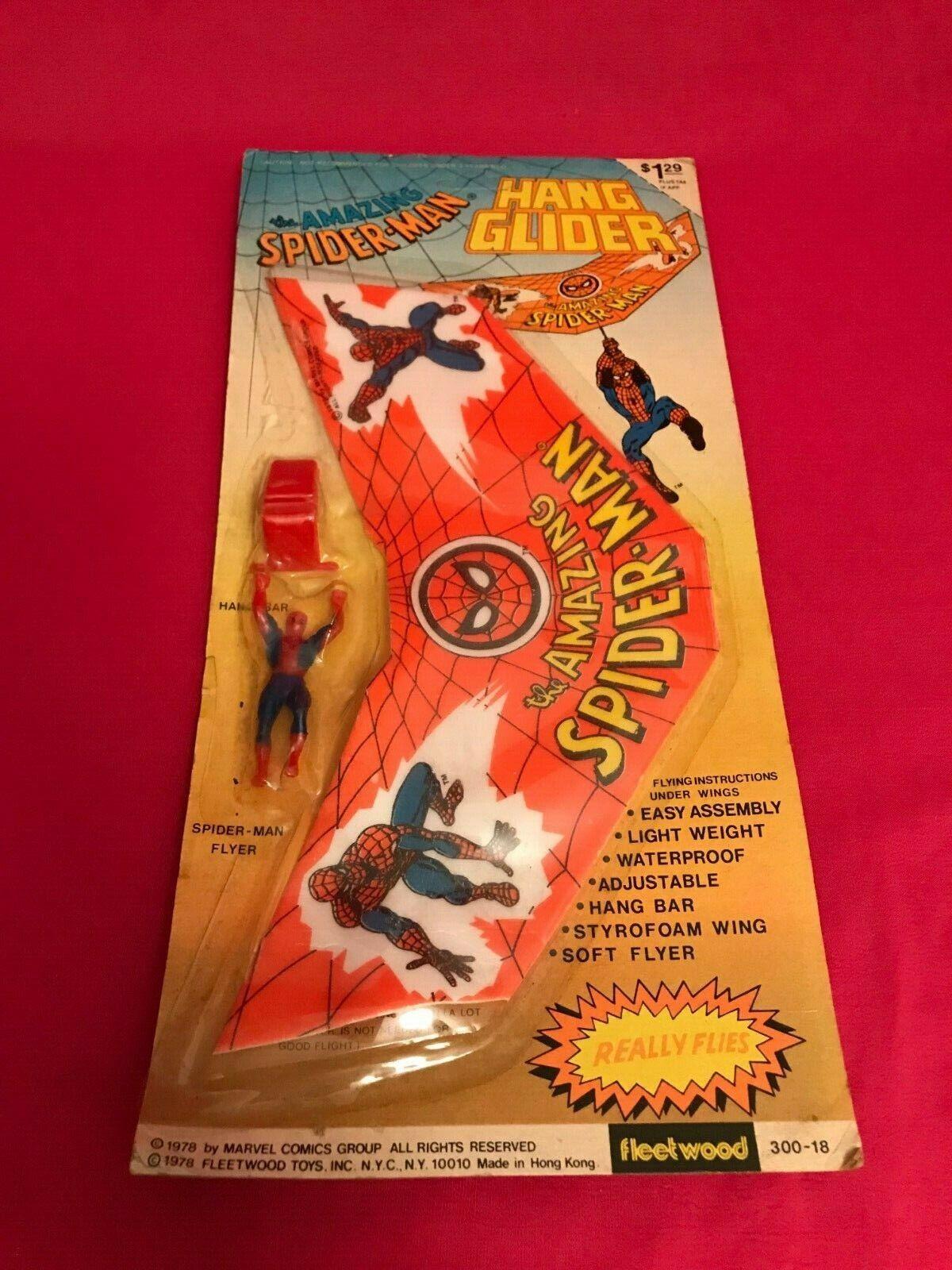 Vintage 1978 Fleetbois Marvel  Comics The Amazing Spiderhomme Hang Glider Brand nouveau  magasin d'usine