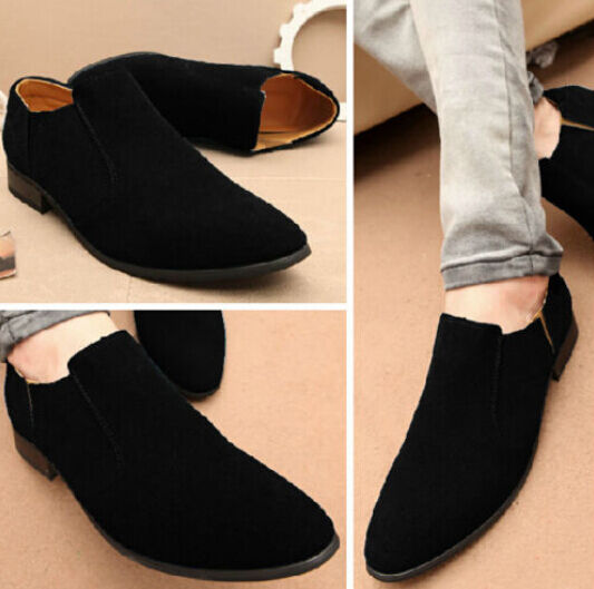 Korean Style Oxford Mens Faux Suede Slip On Loafer shoes Casual Dress shoes Sz