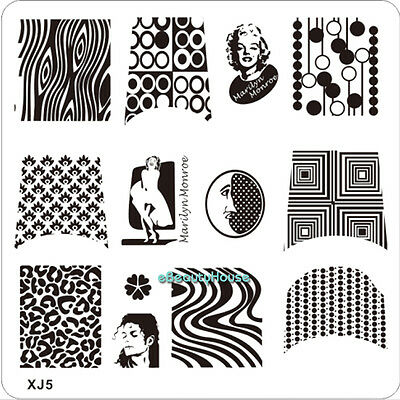 New Design DIY Nail Art Image Stamp Stamping Plates Manicure Template #XJ5