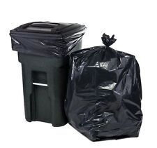 65 Gallon Trash Bags for Toter Black 50 Garbage per Case Cans