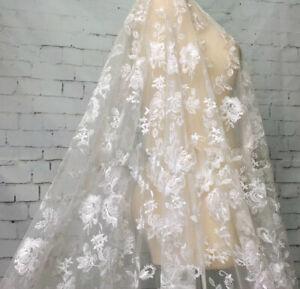 Tela de encaje oro Bordado Boda Flor Disfraz Baile Niñas Vestido de Tul 1 y