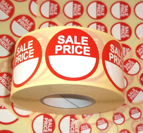 1//2 Price Promotional Point Of Sale Retail Stickers Sticky Tags Labels POS